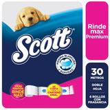 Papel Higienico Scott Rindemax Premium 30 Metros X 6 Rollos