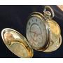 Reloj Longines De Bolsillo 3 Tapas De Oro 18 Kt **labrado**