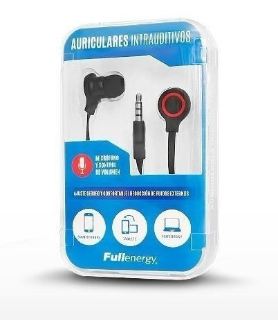 Auricular Celular In Ear Cable Plano Varios Colores Aquaflex