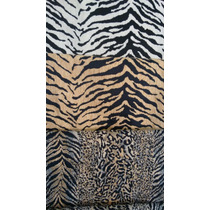 Tela Animal Print En Chenille Manta, Caminos, Almohadon