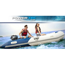 Bote Inflable Power Tec De 3 Mts, Piso De Aluminio-