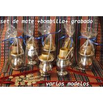 Mate Bombilla Grabado Presentacion. Ideal Souvenir. Oferta!