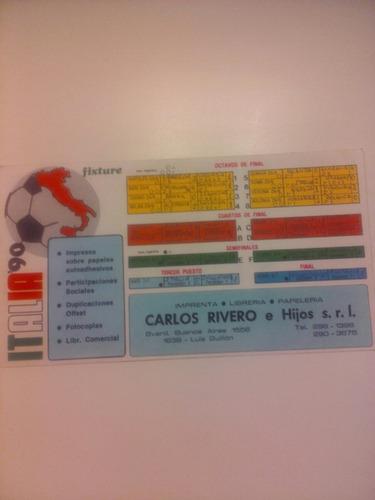 Fixture Mundial Italia 1990. Usado