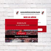 Invitaciones River / Boca / Racing / Tigre / San Lorenzo/etc