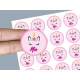 100 Stickers Etiquetas 4 Cm Troquelados  Personalizados