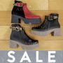 Botas Cuero Mujer - Zapatos Plataforma Hebilla - Araquina