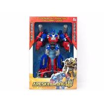 Figura De Optimus Prime Transformers 40cm Con Luz Y Sonido