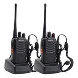 Kit X 2 Handy Baofeng Radio Walkie Talkie Bf888s 16ch Uhf + Auricular Manos Libres