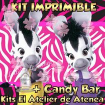 Kit Imprimible Zou La Cebra Invitaciones Golosinas Y Mas 2x1