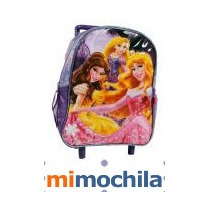 Mochila Princesas Con Carro! Para Jardin+personajes