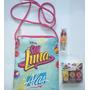 Cartera Soy Luna Con Set De Esmaltes, Stickers Y Labial