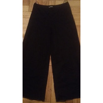 Pantalon Palazo Diagrama Elastizado Negro Nuevo Talle S