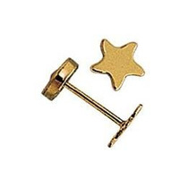 Aros Abridores Oro 18k Ch Art.150 - Estrella