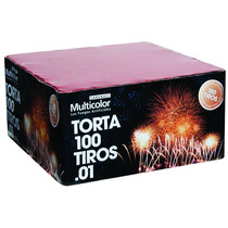 Fuegos Artificiales Torta 100 Tiros 01 Cadenaci Pirotecnia