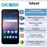 Alcatel Onetouch Ideal 4,5  5/2 Mp 8rom 1ram- Liberados!