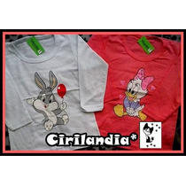 2 Camisetas Mangas Largas Algodon Nena Talle 4 Acepto M Pago