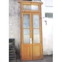 Gran Puerta Pinotea Doble Hoja - Ventiluz-lavada C/ Marco