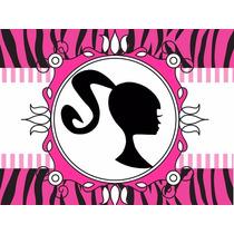 Kit Imprimible Barbie Silueta Tarjetas Mega Candy Bar 2x1 !!