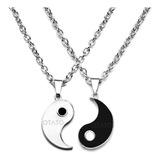 Collar Hombre - Collar Mujer - Conjunto 2 En 1 Collar Distancia Yin Yang Parejas Amigos Familia Collar Acero Quirúrgico