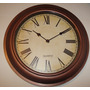 Reloj De Pared Redondo Vintage De 32 Cm Simil Madera