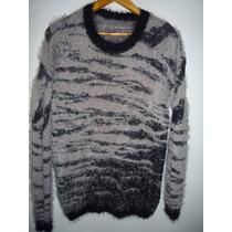 Sweater Mujer Talle Grande Lana Pelo De Mono Buzo Remera