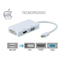Adaptador Thunderbolt Mini Display Port Hdmi Dvi Vga Macbook