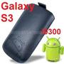 Funda De Cuero C/tira Extractora Negra Galaxy S3 I9300!!