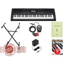 Combo Teclado Casio Ctk 3000 +pedal+método+ Soporte + Fuente