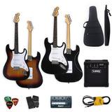 Combo Guitarra Electrica + Ampli + Funda Acolchada + Acc