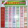 Cartel Cabezas Semanal 17 Quinielas -el Emporio Del Agencier
