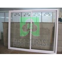Aberturas: Ventana Aluminio Blanco Entero 2,00x1,50 C/vidrio
