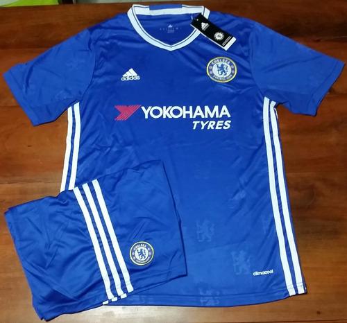Conjunto Camiseta + Short Titular - Chelsea F C 2017 58eb8142f2621