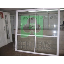 Aberturas Ventana Balcon Alum Blan Entero 2,20x2,00 C/vid