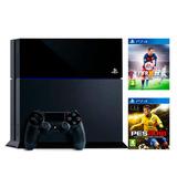 Ps4 Playstation 4 500 Gb Fifa O Pes 16 Hdmi Gtia