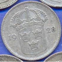 Suecia 10 Ore 1928 G Plata * Gustaf V *