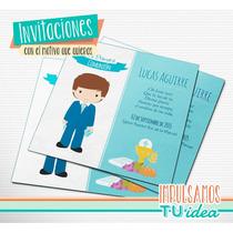 Comunión Varón - Estampita Para Imprimir Nene Celeste