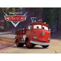 Red Camion Bombero De Cars Disney Mattel Juguetes Caballito