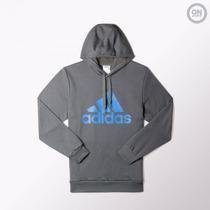 Buzo Gris adidas Logo Hoodie *** On Sports ***