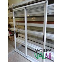 Ventana De Aluminio 180 X 200 Modena Balcon Vidrio Entero