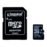 Tarjeta De Memoria Kingston Micro Sd 16gb Clase 10 Adap Sd