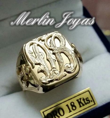 a738e887008d Anillo Sello Oro 18 Kts Alto Relieve -9 Grs- Merlin Joyas- en venta en  Córdoba Córdoba por sólo   26999