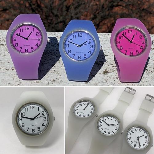 77a1b892ecae Reloj Pulsera Silicona Cambia De Color X10 Unidades X Mayor!