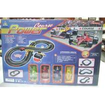 Pista De Autos Power -285 Cm Longitud-pulsadores-v. Devoto