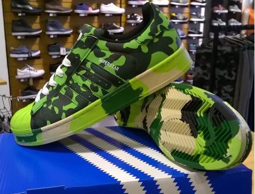 8b3dbee51a Zapatillas adidas Superstar Local Importadas Camuflada Verde ...