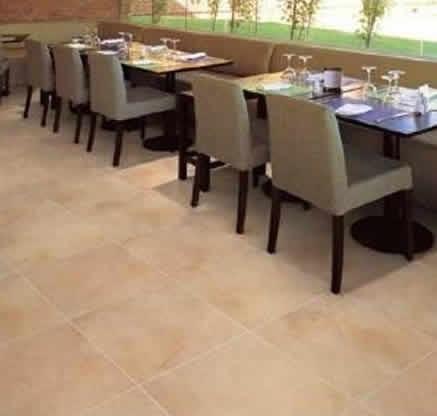 Ceramica san lorenzo dueto tiza arena 2da ba o cocina piso for Pisos de ceramica para cocina comedor
