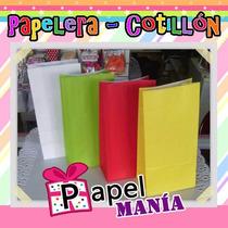 30 Bolsas De Papel Lisas Varios Colores Quilmes