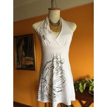 Vestido Blanco Con Diseño Modelo Marilyn