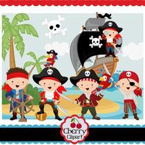 Kit Imprimible Piratas Nenes 5 Imagenes Clipart