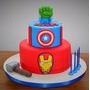 Tortas Decoradas Infantiles Vengadores Superheroes
