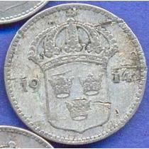 Suecia 10 Ore 1914 Plata * Gustaf V *